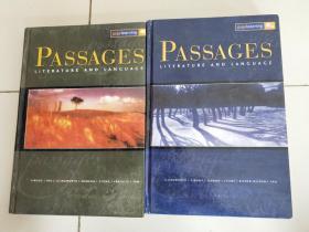 Passages 11: Literature and Language + Passages 12: Literature and Language【两册合售】有蜡笔划线和字迹