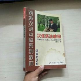 对外汉语本科系列教材:汉语语法教程(语言知识类)