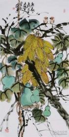 中国美协会员,王培东花鸟写意国画玉米纯手绘
