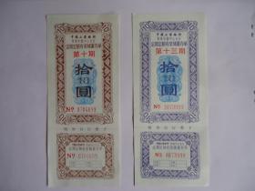 中国工商银行定期定额有奖储蓄存单