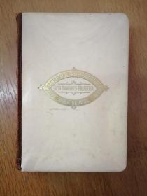 清末百年老书!The Poetical Works of Sir Walter Scott 司各特诗集(1909年英文原版书,象牙白封护硬精装,三面红地刷金,封二一枚1910年藏书票,英文签字非常漂亮,扉页一幅作者半身像,内页如新,品好,)