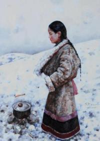 711  艾轩   荒原暖冬     纸本印刷图片