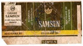 外国早期烟标【SAMSUN牌香烟】横式20支