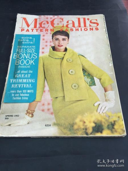 McCall's Pattern Fashion 1962 spring  publish by Arthur J. Imparato