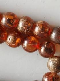 古董古玩杂项琥珀珠子108颗