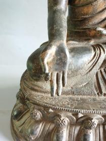 古董古玩铜器明代紫铜造像