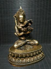 收藏铜鎏金欢喜佛一尊高26厘米