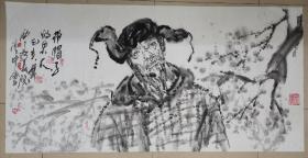 夜中会,1956年生于西安,国家一级美术师,西安美术学院教授。1975年毕业于陕西省艺术学院,1983年毕业于西安美术学院油画系,获学士学位,并留校任教至今。1998年完成美院高研班研究生学。中国美术艺术家协会陕西分会执行主席,中国国家博物馆画廊特聘书画家、中国草书协会COM中心特聘理事、陕西