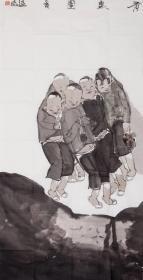 【终身保真字画】李连志:136cmx68cm           武警总部文艺创作室创作员、中国美术家协会会员、国家一级美术师、全军高评委;