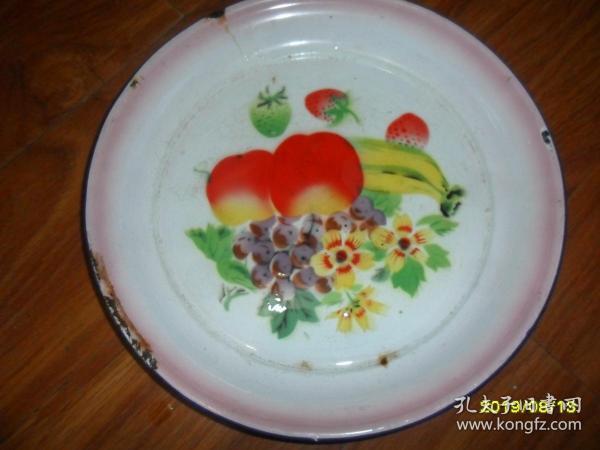 鮮花水果---1971年文革搪瓷盤