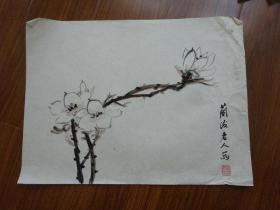 黄宾虹学生,常州藉著名老画家方.正(有款国画27)