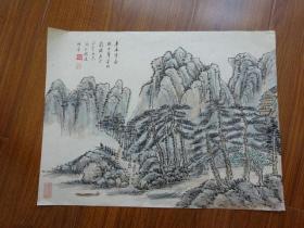 黄宾虹学生,常州藉著名老画家方.正(有款国画28)