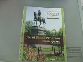 AAEA ANNUAL MEETING BOSTON MASSACHUSETTS 2016Final Program