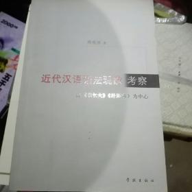近代汉语语法现象考察