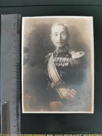 侵华日军某军官将领原版照片,银盐老照片