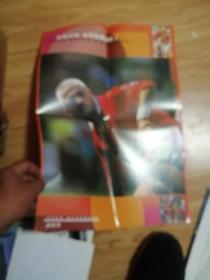 足球世界90年代海报插页37张合售