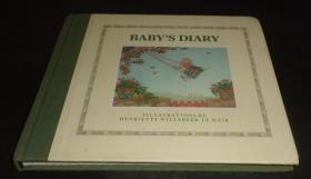 2手英文 Baby's Diary Henriette Willebeek le Mair 古老民谣童谣绘本 小本  aa59
