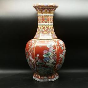 官窑珐琅彩花瓶