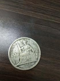 外国银元 银币 1905 ,尺寸3.5 * 3.5cm
