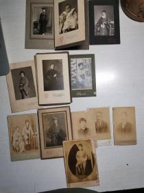 清代 纸民国时期老照片 日本回流 十二枚 包老保真