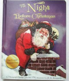 纸板绘本故事书 The Night Before Christmas 圣诞节前夜