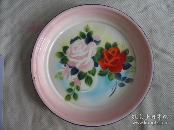花卉搪瓷盤子,,,