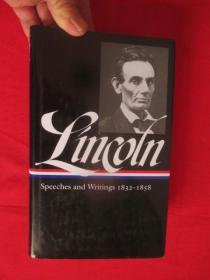 Lincoln: Speeches and Writings     (大32开,硬精装)   【详见图】