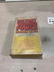 INSTANT WORD POWER NORMAN LEWIS(即时语言能力诺曼·刘易斯)(英文)