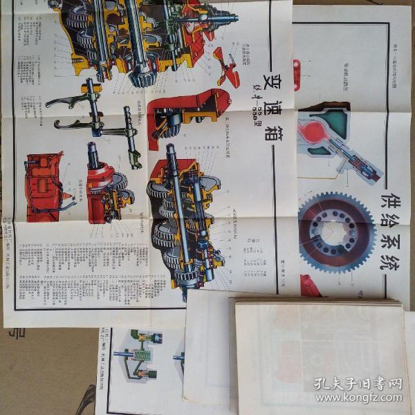 拖拉机结构式挂图(共31期)可单卖