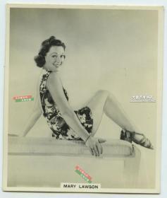 民国时期英国女演员Mary Lawson玛丽罗森银盐照片一张,其出生于1910年8月30日,代表作《将要有场火灾》等。