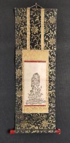 D1030:回流木版画人物图立轴(日本回流.回流老画.老字画)