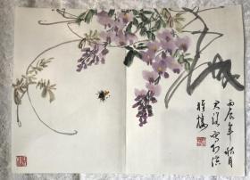 潘君诺紫藤蜜蜂 小品 保真