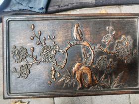 喜鹊登梅木盒