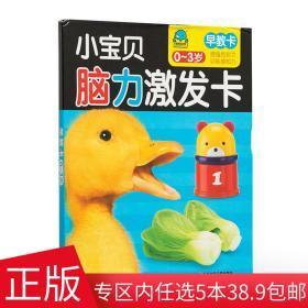 正版新书小宝贝脑力激发卡 早教卡 0-3岁宝宝 亲子互动 学前教育 智力游戏