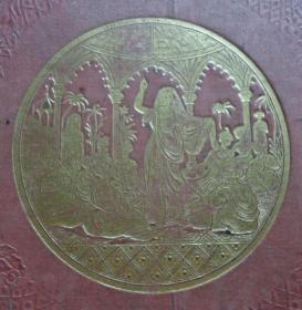 1837年Drawing Room Scrap-Book《诗画录》珍贵版画画册初版本 1/2真皮精装古董书 36张绝美原品铜版画 品相上佳