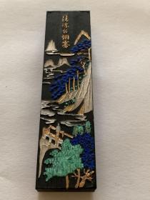 80年代老墨  墨锭 歙县徽墨厂 一两墨 描金很漂亮 用于书画 宣纸 砚台 墨笔 不议价 难得的好墨