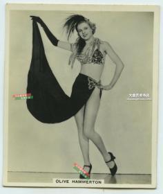 民国时期女演员奥利佛汉默顿Oliver Hammeton 银盐照片一张。
