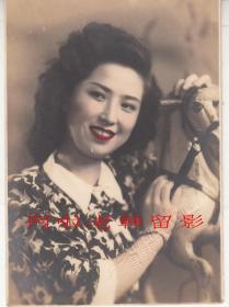 民国广东影星:胡枫小照一枚  【7.6+6.4cm】【2】