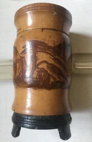 黄山竹笔筒 七八十年代