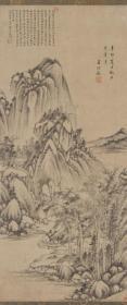 高清复制名家字画 王时敏-仿大痴山水51x120厘米