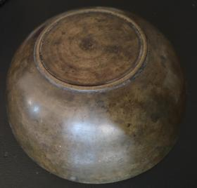 清末民初铜碗