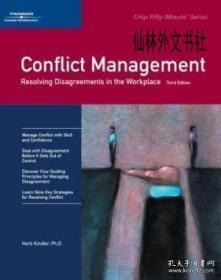 【包邮】2005年出版 Crisp: Conflict Management Third Edition: Resolving Disagreements In The Workplace