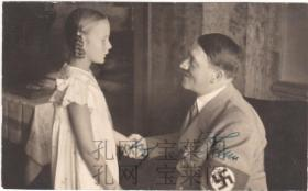 """二战德国元首 """"希魔"""" 希特勒 Adolf Hitler 1930年代亲笔签名照  罕见"""