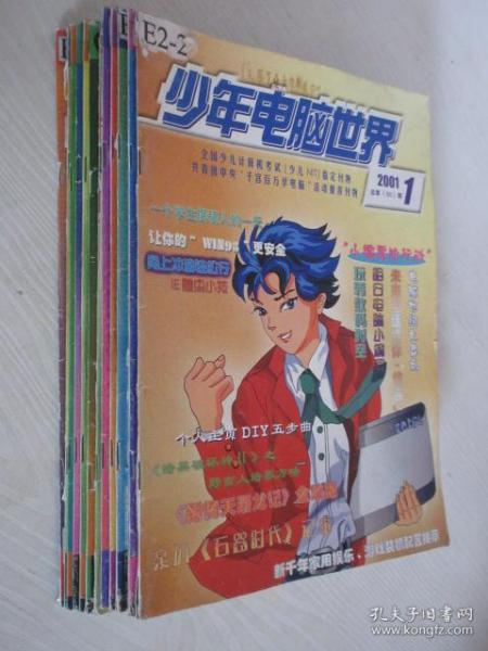 少年电脑世界   2001-2002年共20本合售  详见描述