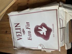 5127:老的空白细格子纸一包 (VELIN  extra-fin  100 feuilles )品好