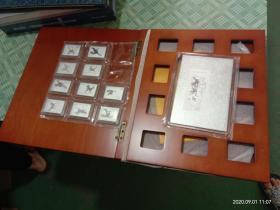 純銀郵票 ---徐悲鴻奔馬郵票--999純銀120克!