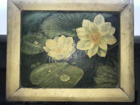 70年代油画,无款,原框,林风眠风格