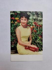 民国美女,葛兰,照片一张,本名张玉芳,祖籍浙江海宁(今海宁市),出生于上海。香港电影演员、歌手。1955年10月30日,葛兰随香港影剧界艺人组成的祝寿团往台湾为蒋介石总统祝寿,在晚会上表演曼波歌舞,风靡一时