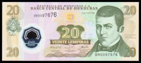 外国纸币 洪都拉斯20伦皮拉塑料钞(2008年版) 世界钱币