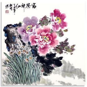中国画:富贵神仙   林朝晖作品